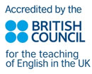 We are accredited by the British Council
